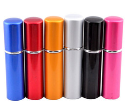 New Arrival Metal Fashion 5ML Deluxe Travel Refillable Mini Atomiser Spray Perfume Refillable Bottle 5 Colors