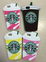 Free shipping Hot Sale 3D Cartoon Silicone Starbuck Coffee Cup Case Cover For iphone5 6 6plus For Samsung Galaxy S6 6edge Note4 Mobile Phone