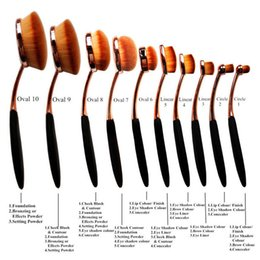 Wholesale 2016 Ana Foundation Makeup Brushe Set AAA Top Quality Type Brushes Long ABS Hardcover Makeup Tools Kits Artificial Fibers Tools
