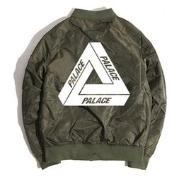 Wholesale palace jacket newest camo army green bomber baseball jacket mens womens hip hop skateboards thrasher jackets and coats