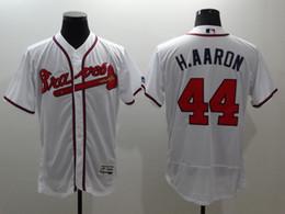 Wholesale 2016 New Cool Flexbase Mens Hank Aaron Baseball Jerseys Atlanta Braves White Cheap Outlets Store