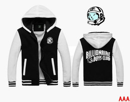 Wholesale BBC hoodies new style hip hop classic cardigan zipper sweatshirt BILLIONAIRE BOYS CLUB sweatshirt sweater jacket large size clothes