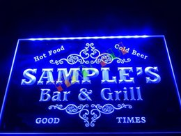 Wholesale DZ058 Name Personalized Custom Family Bar Grill Beer Home Gift Neon Sign hang sign home decor crafts