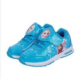 Cartoon Brand Elsa Anna girls children shoes sneakers kids sneakers Snow Queen Shoes For Girls Waterproof Sports Casual Shoes Frozen running