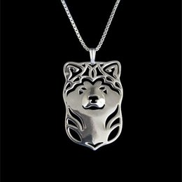 Japanese Akita Inu Necklace Pendant Silver Gold Necklaces & Pendants For Women Casual Jewelry Charms Dog Necklace free shipping
