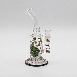 Wholesale Newest Glass bong water pipe smoking pipe two function dry herb use oil rig use with cermaic carb cap tool