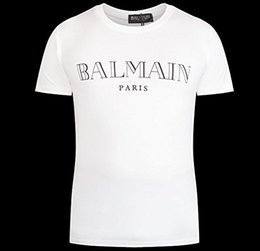 Wholesale Men s Balmain cotton t shirt Balmain Logo Tee Fashion Mens short sleeve man balmain top for summer