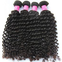 24 profonds faisceaux de cheveux bouclés à vendre-Virgin Brazilian Hair 2015 Hot Selling aux États-Unis 7A Unprocessed Brazilian Hair 4 Bundle Naturel Deep Wave Cheveux bouclés Ronds A