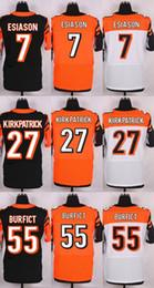 Wholesale 7 Boomer Esiason Domata Peko Dre Kirkpatrick Rey Maualuga Cedric Ogbuehi Black Orange White Football Jerseys