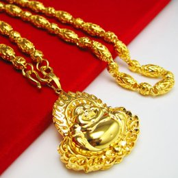 For a long time does not fade Gold Necklace Mens simulation jewelry gold chain chain hollow beads imitation jewelry men sent to friends
