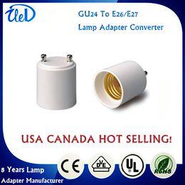 Wholesale Best Quality GU24 to E27 GU24 to E26 lamp adapter E27 to GU24 adapter converter GU24 male to E27 female