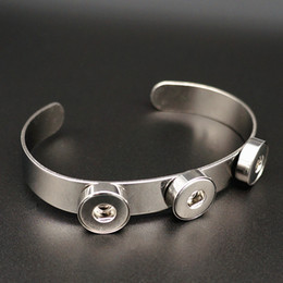 Wholesale New Fashion SG0213 Beauty Charming L stainless steel buttons ginger snap bangle fit MM ginger snap buttons