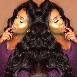 Thick and Soft 180 Density Body Wave Full Lace Wig Glueless Brazilian Human Hair Lace Front Wigs With Baby Hair For Black Woman