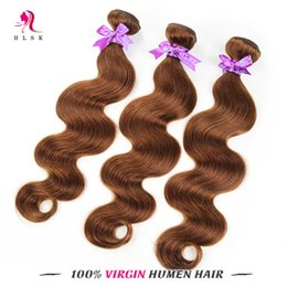 Malaysian Virgin Remy Body Weave Brown Color Malaysian Human Hair Extensions Virgin Hair Products Malaysian Body Wave Free Shipping