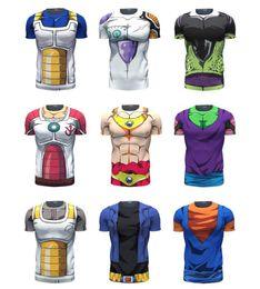 Wholesale Dragon Ball Z Vegeta Resurrection F Armour T Shirts Women Men Anime Super Saiyan Goku Majin Buu Piccolo Cell DBZ T shirt D Tees
