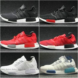 Wholesale NMD Runner Shoes NNM_R1 Monochrome R Mesh Primeknit Triple White Black NMD R1 Women Men Running Shoes Sneakers Sports Shoes