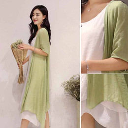 Women Lady Girl Round neck Loose Cotton Linen Button Autumn A-Line Long Dress Women Apparel Clothing