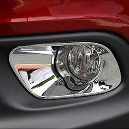 Wholesale Exterior Accessories for jeep cherokee headlights front bumper fog light lamp decorative cover sticker frame trim lt no tracking