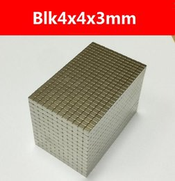 New Rare-earth Neodymium Strong Permanent Magnets Cube Craft DIY Magnetic block,100pcs pack blk4x4x3mm, Free Shipping