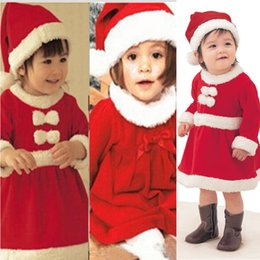 2016 Christmas Gifts Baby girls Rompers Kids Clothes Long Sleeve One-Piece Clothing Baby Christmas Rompers with Hats Newborn Baby Rompers