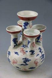 Wholesale Blue youligong GongSi tube bottles of vintage antique old porcelain