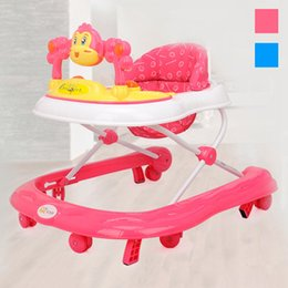 Wholesale Hot Sales Fashion Baby Walker Height Adjustable Toddler Musical Safety Learning Assistant Toys Anti Rollover Infant Walkers JN0077