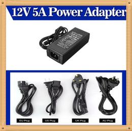 Promotion 12v ac chargeur Prix le plus bas New AC adaptateur convertisseur Pour DC 12V 5A 60W Alimentation LED Chargeur pour 5050/3528 SMD LED ou LCD Monitor CCTV