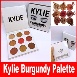 Wholesale NEW Kylie Jenners Burgundy Eyeshadow palette Kylie Jenner Cosmetics The Burgundy Eyeshadow Palette Preorder Kyshadow