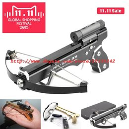 Wholesale 2 GEN Handheld Full CNC Machining IN1 Mini Crossbow With Hard Anodized Aluminum Slingshot Model Archery With Red Laser SIght