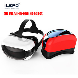 Wholesale VR BOX RK3126 TV D Glasses Wifi Bluetooth P G G Play virtual reality games Andriod all in one Android Video Glasses