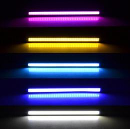 Wholesale 1Pcs New update Ultra Bright LED Daytime Running lights DC V cm Waterproof Auto Car DRL COB Driving Fog lamp