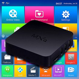 Wholesale MXQ Android Smart TV Box XBMC installed Quad Core G Wifi Internet Kodi16 fully loaded Amlogic S805 Video Stream Media Boxes