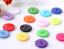 new arrival 100 pcs Scrapbooking mixed Round Shape Resin 2Holes Sewing Buttons DIY decoration