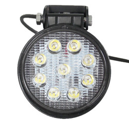 Wholesale 4 Inch w Lights SPOT FLOOD BEAM Round Car IP68 Led Driving Work Light Lamp Bulb Auto Electrical System For Offroad Machinery Vehicle