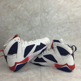 Hot sell new 7 Olympic Bordeaux Cardinal Raptor French Blue Citrus cigar black Basketball Shoes outdoor Sneaker many colors