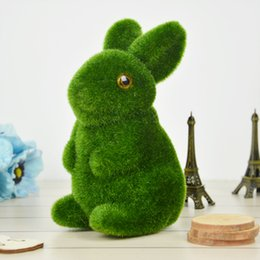 2016 New Creative Rabbit Simulation Grass Fine Jewelry Cute Graphic Simulation Moss Stone Green for Gifts