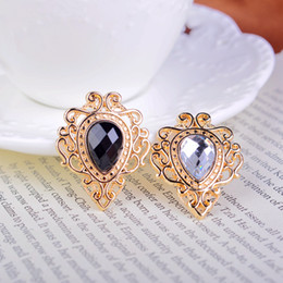 Korean style retro palace droplets flower brooch men and women suit collar shirt collar pin jewelry pins