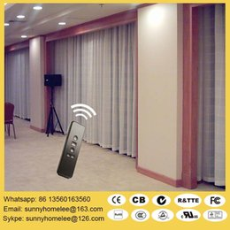 Wholesale Top sale wireless motorized curtain blinds L shade U shade curtain blind double track curtain blind