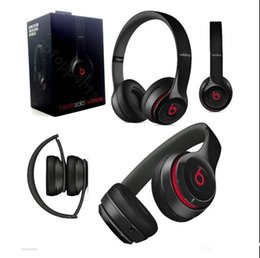 Wholesale Beats Solo2 Bluetooth Headphone Active Collection HD Stereo Wireless Mobile Cellphone Solo Earphone Headset Used Refurbished DHL Free