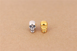100% 925 silver Skull Beads Brand TS Beads Fashion Skull Charms Fit For Pandora Necklaces & bracelets accessory DIY Beads