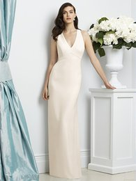 On-Sale! Bridesmaid Dresses With Trumpet mermaid V-neck Floor Length Satin Cheap Bridesmaid Dresses Maid of Honor #DL20019