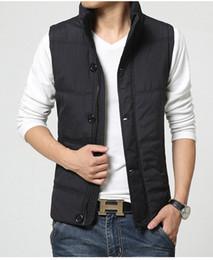 Wholesale Fall Zipper Snap Placket Winter Man Casual Vest Plus Size M XL Brand New Pocket Design Mandarin Collar Men Warm Waistcoat