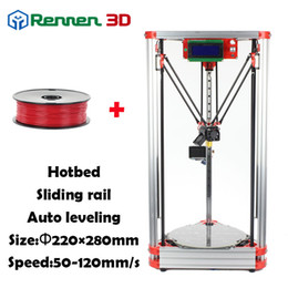 Wholesale High Precision D Delta D Printer Pro Auto Level K800 Kossel Reprap Prusa D Printer Machine Kit With Hot Bed Injection rostoct