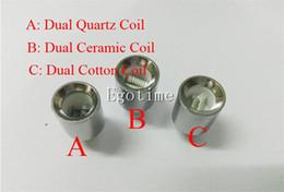 Wholesale Update Dual wax coils for cannon vaporizer atomizer vape double coil dual coil Quartz Ceramic rod wax Glass globe metal vase cartomizer