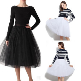 Wholesale Cheap Blue Red Tutu - Cheap Ball Gown Maxi Tutu Skirts For Women Ruffled Tulle Tea Length Adult Women's Skirts Lady Formal Party Wedding Guest Skirts 12021