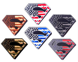 GPS-029 3*2 inch high quality Wholesale 3D Patches Superman Embroidered patch with magic tape outdoor armband badge garment accessories