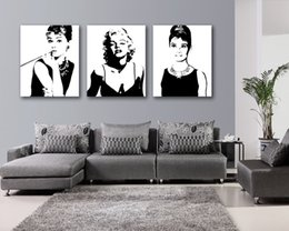 Wholesale Wall decoration Pieces no frame on Canvas Prints Marilyn Monroe audrey hepburn peacock Cartoon flower Sunflower butterfly dove swan woman