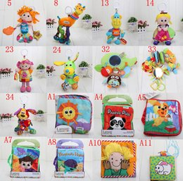 Wholesale Lamaze toy Cloth Books Lamaze Toys Crib toys with rattle teether infant early development Baby Kid plush Baby Story Book