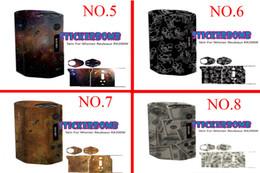 Wholesale 28types box mod Skin for Wismec Reuleaux RX200 Wrap Colorful box mod Sticker Bomb RX w box mod free Ship