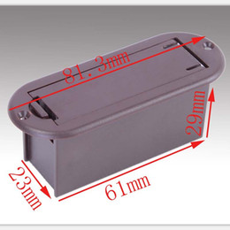 NEW 10Pcs 9V battery boxs   holder   case for guitar&bass pickup,guitar parts Brown , Free Shipping